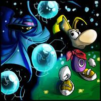 Rayman and Mr. Dark by Anzhyra