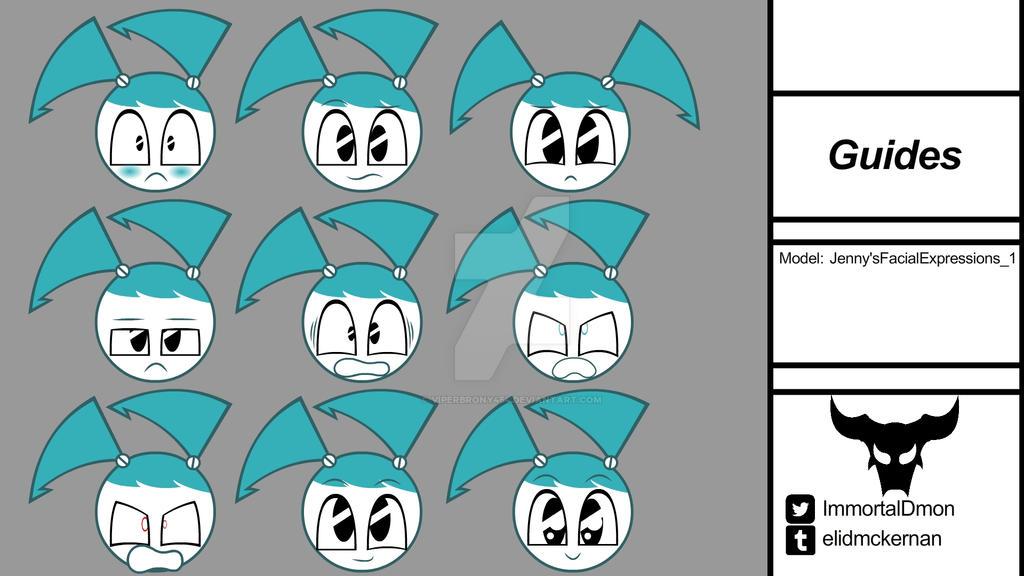 Jenny's Facial Expression by ViperBrony454