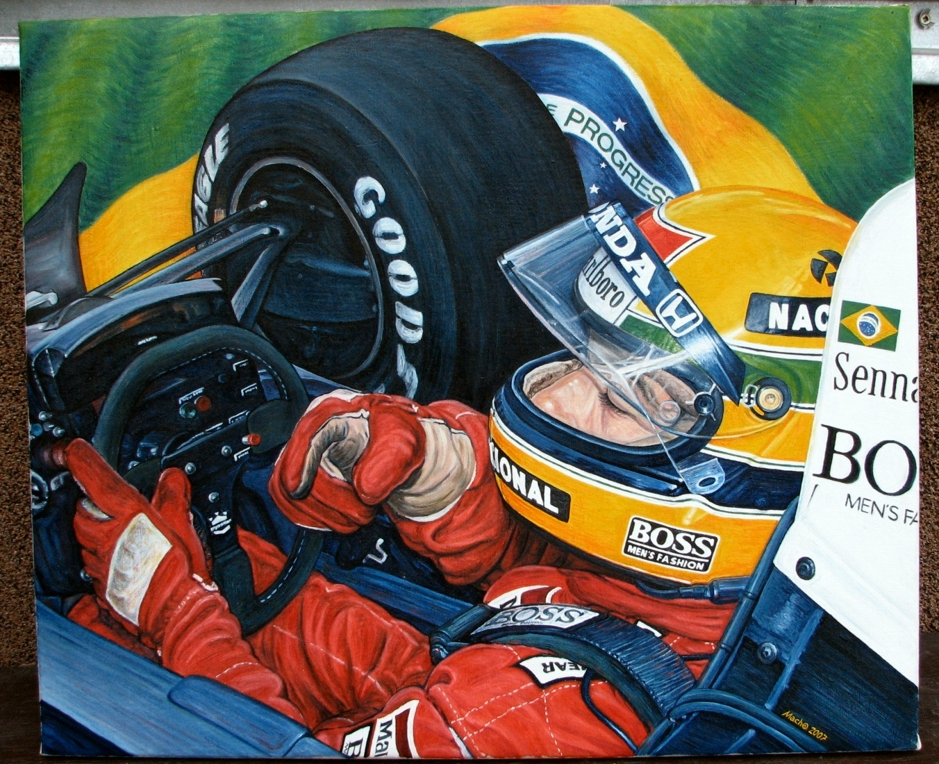 Ayrton Senna by machoart