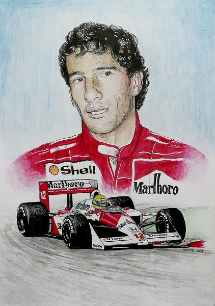 Ayrton Senna Tribute by machoart