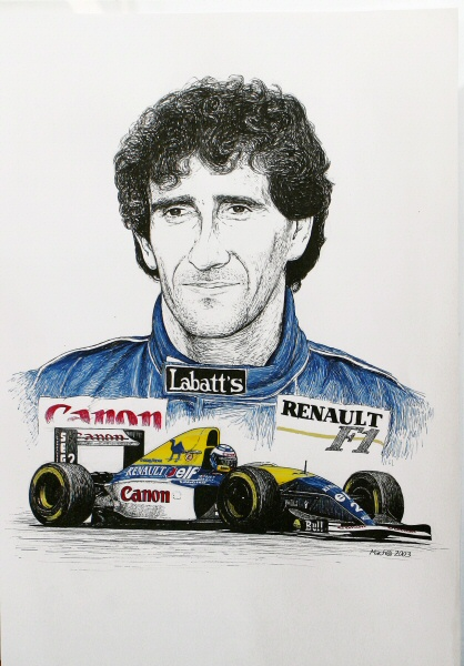 Alain Prost Tribute by machoart