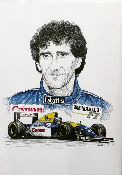 Alain Prost Tribute by machoart