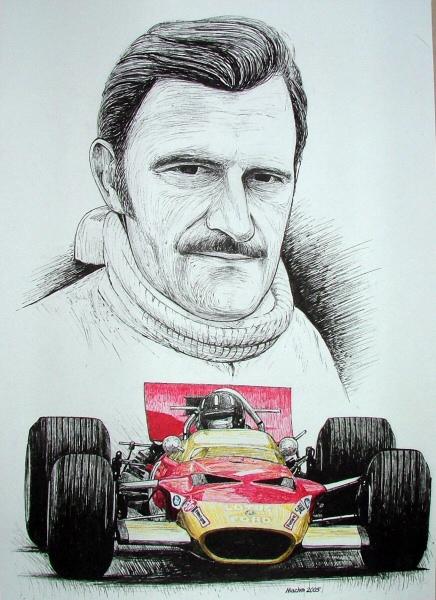 Graham Hill Tribute by machoart