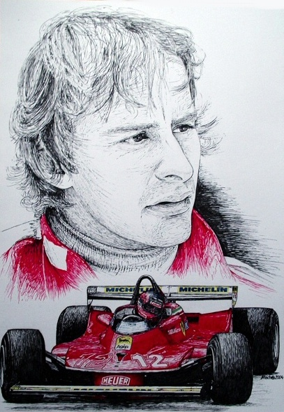 Gilles Villeneuve Tribute by machoart
