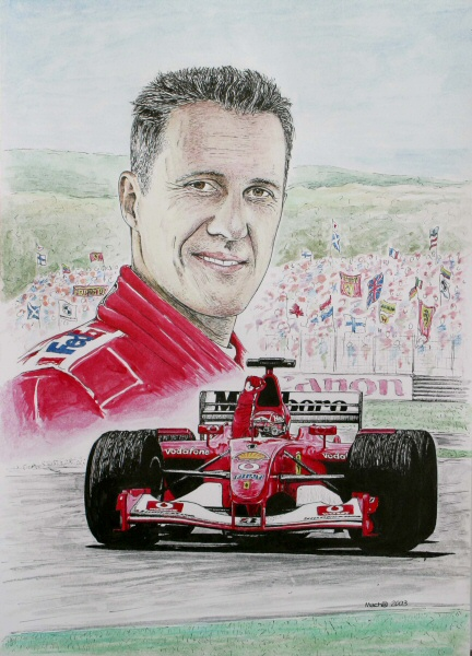 Michael Schumacher Tribute by machoart