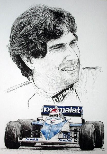Nelson Piquet Tribute by machoart
