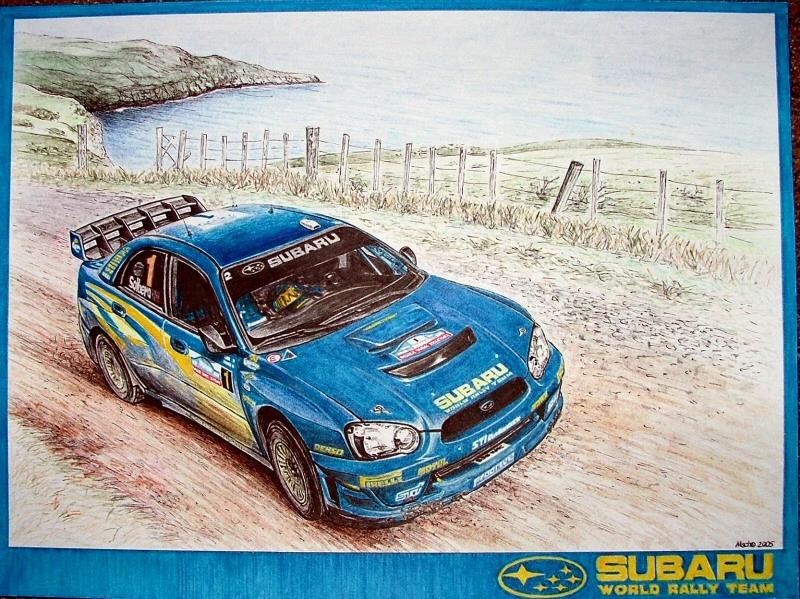 Subaru Impreza WRC 2004 by machoart