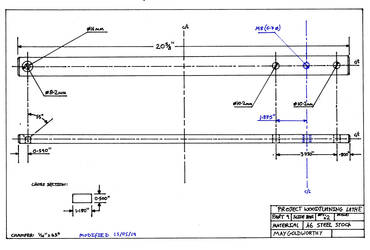 Project woodturning lathe Part 9 Drawing mod by MayGoldworthy