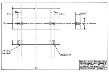 Project woodturning lathe Part 18 Drawing by MayGoldworthy