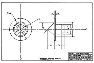 Project woodturning lathe Part 20 Drawing by MayGoldworthy