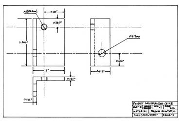 Project woodturning lathe Part 21 Drawing by MayGoldworthy