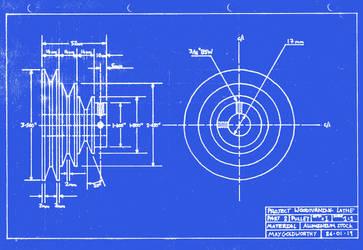 Project woodturning lathe Part 2 Blueprint by MayGoldworthy