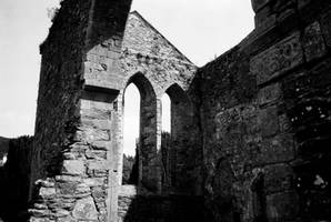 Ruined abbey Wicklow FILM 2