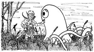 Gilbo Meets Gloop the swamp Monster
