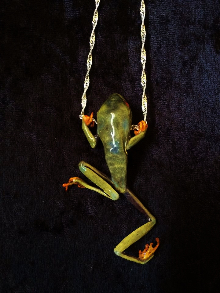 Mummified Frog Necklace by TheSilverCaribou