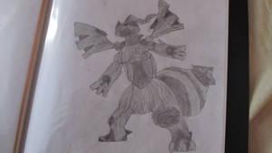 Old Pokemon Zekrom drawing by UiriamuFrey