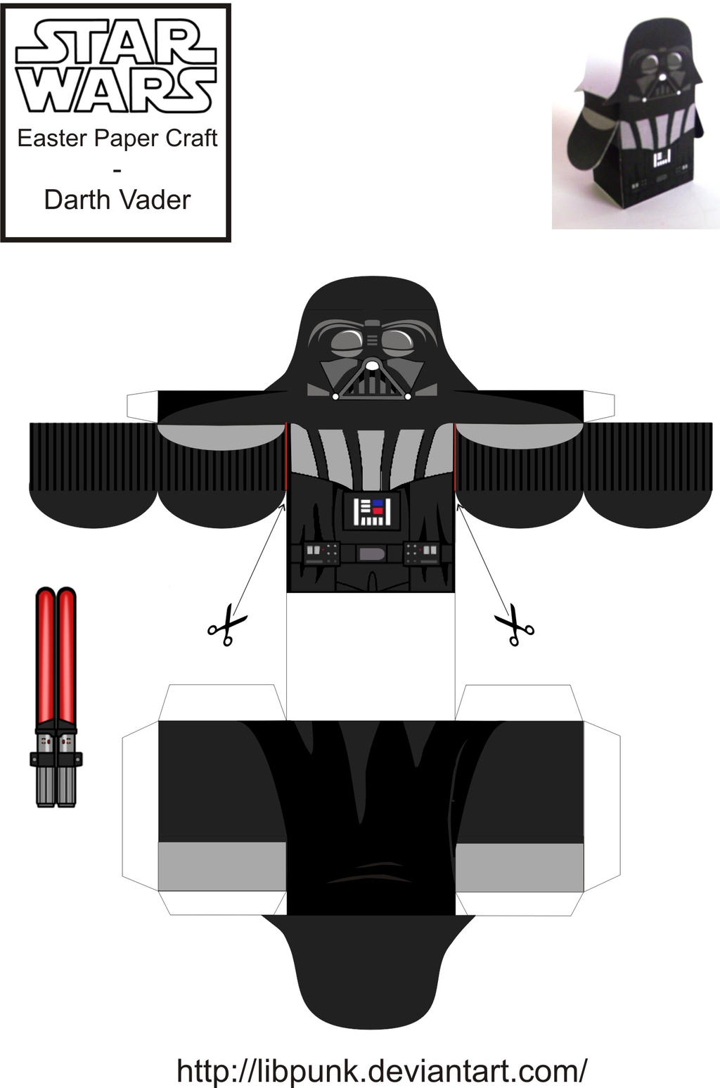Darth vader easter paper craft by libpunk on deviantart for Star wars arts and crafts