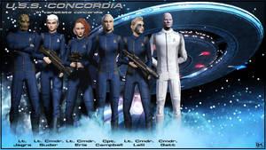 U.S.S. Concordia (NCC-1992) + Crew by Kurumi-Morishita