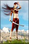 Kuroyanagi Ichika - The Sword Saint Kyokugeisha by IK-Morishita