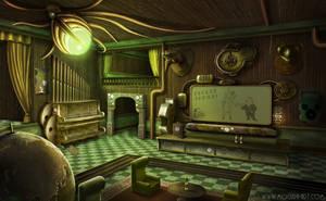 Steampunk Saloon by Mogura-no-kanji