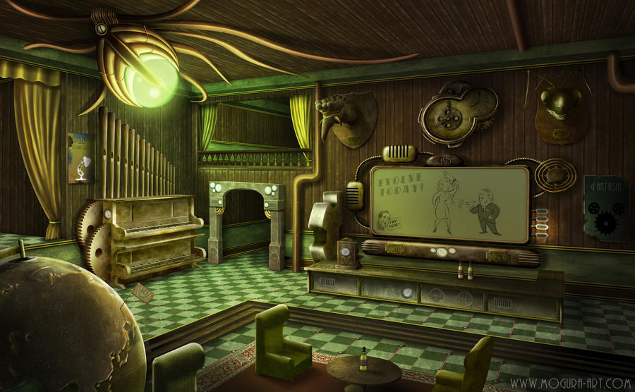 Steampunk Saloon by Mogura-no-kanji