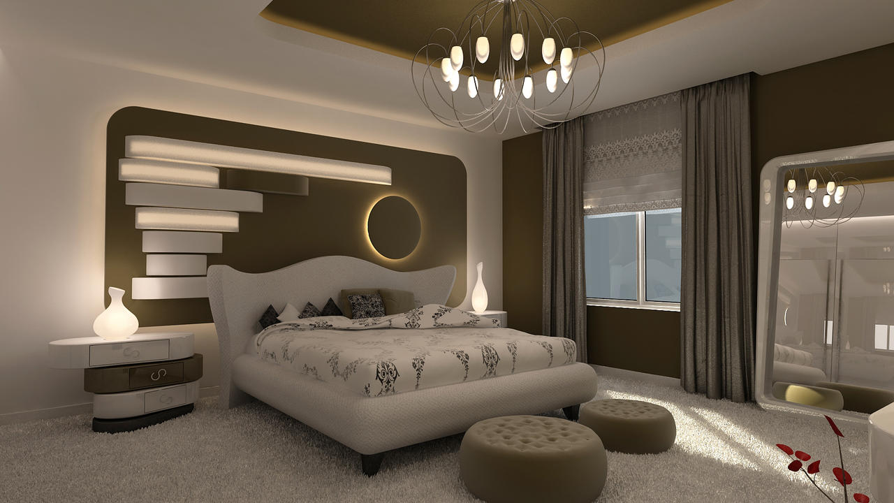 Avant garde bedroom modern ver by 1zmim on deviantart for Exemple de deco chambre adulte