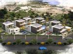 7 villas 1 pool backyard