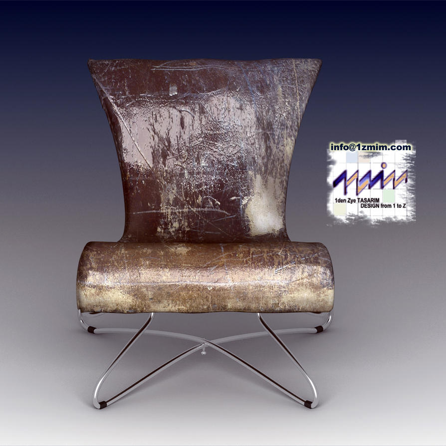 Folding Chair Enhanced with Leather by 1zmim