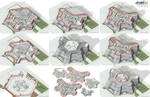 Modern Town Hall - 3D Plan Sections