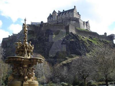 Edinburgh Castle, Scotland by jbanaciski
