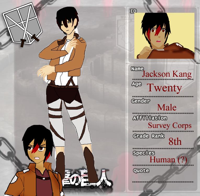 Attack on Titan Profile: Jackson by ChaoticDarkAngel