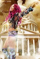Sasha Banks The Boss by GFXWWE