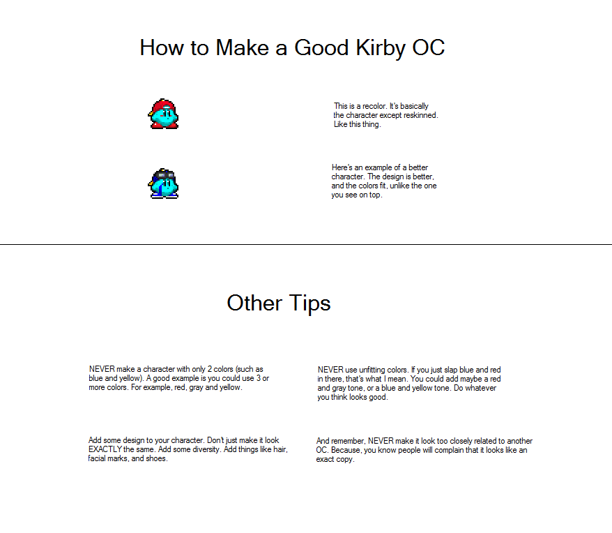 How to make a good kirby oc by wooperthememe on deviantart for How to make a good painting