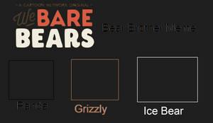 We Bare Bears Bear Brothers Meme Template