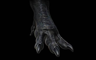 Tyrannosaurus rex foot (render test)