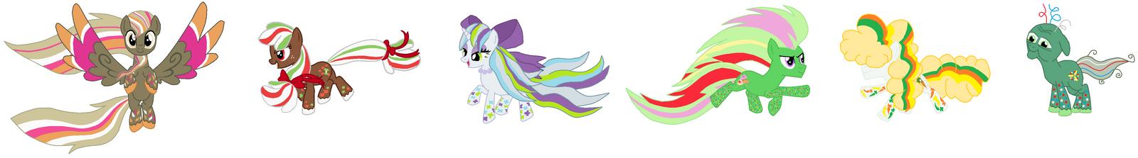 Mane 6 Pets Rainbow Power by FreshlyBaked2014 on DeviantArt