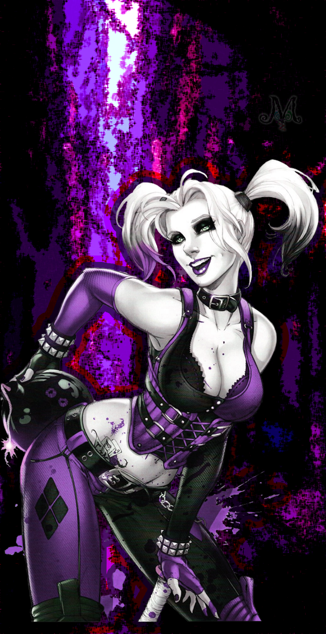 Harley quinn wallpaper purple by pyritey on deviantart - Harley quinn hd wallpapers for android ...