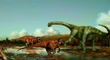 Siamosaurus Suteethorni and Phuwiangosaurus