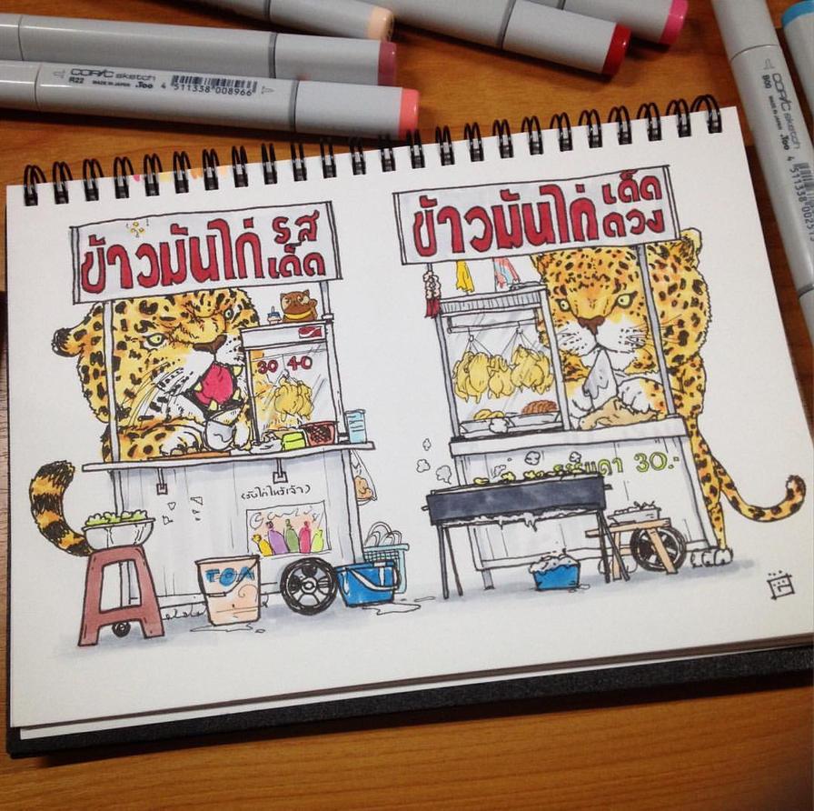 Jaguar and Leopard Khao Man Gai by gogman