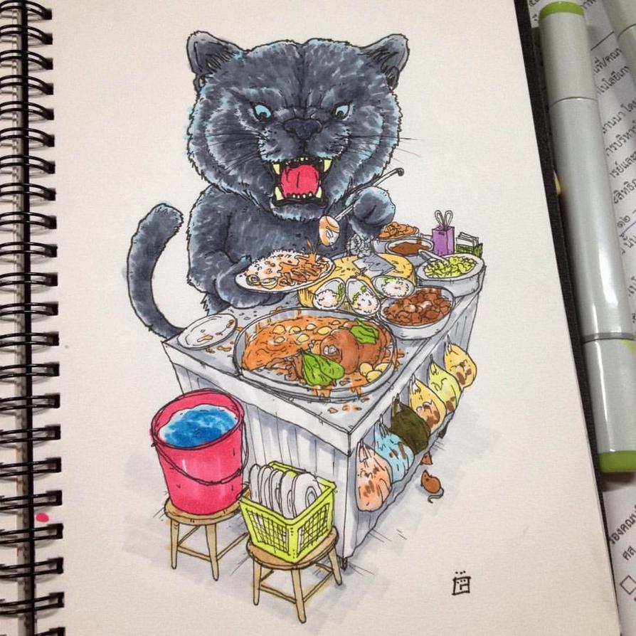 Black Panther Stewed Pork Leg on Rice by gogman