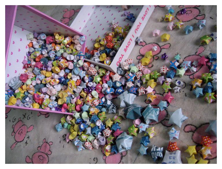 Pastel Paper Stars by Terrazaru
