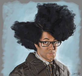 Moss (The IT Crowd) - caricature