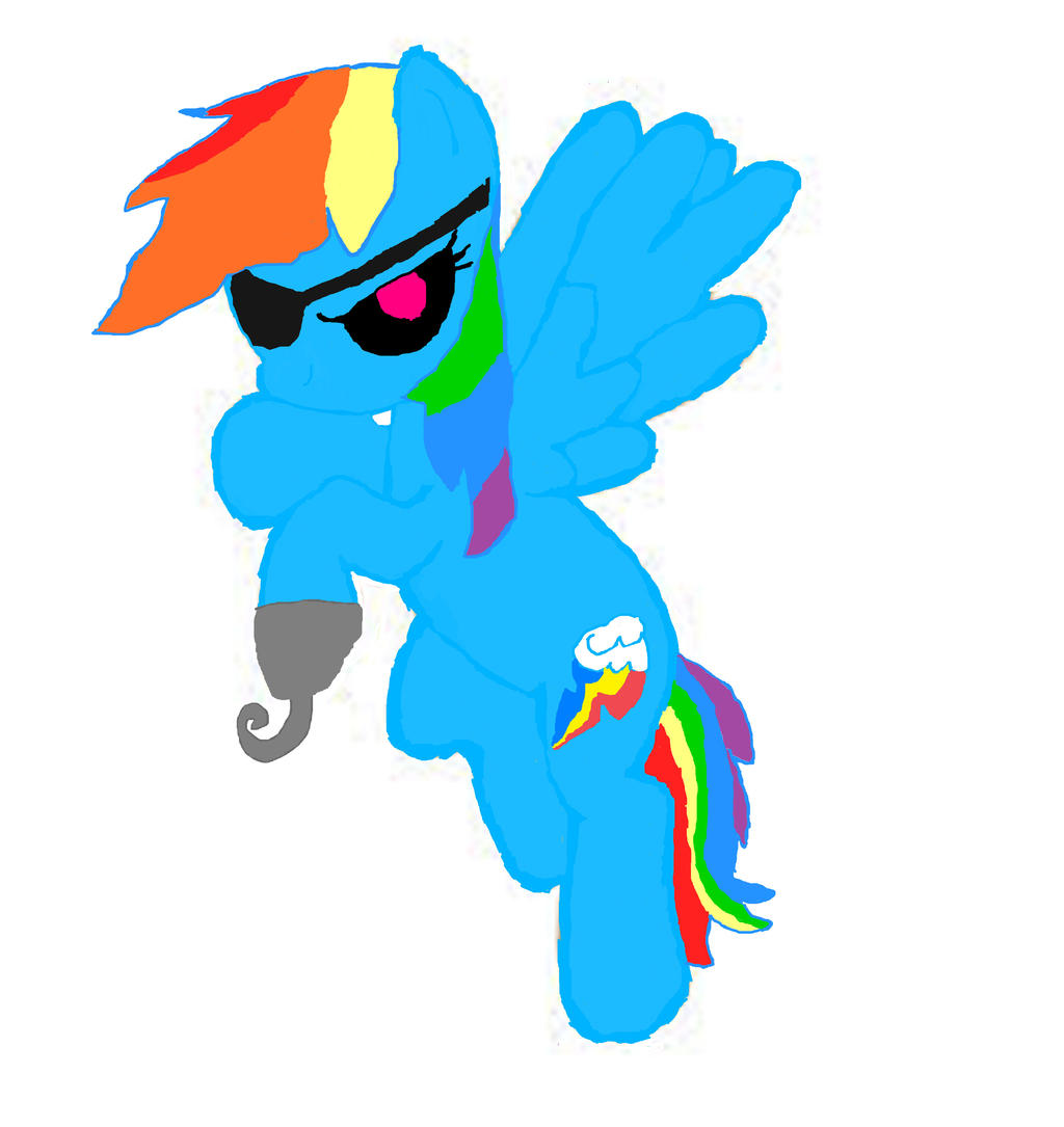 Fnaf mlp rainbow dash foxy by kaytheanimator on deviantart