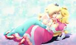 Peach X Rosalina -Commission-