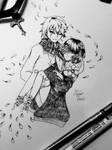 Flowerfell inking by MimaDomo