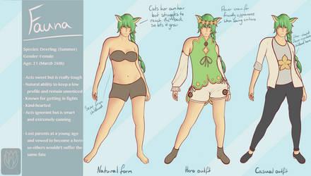 Fauna character sheet