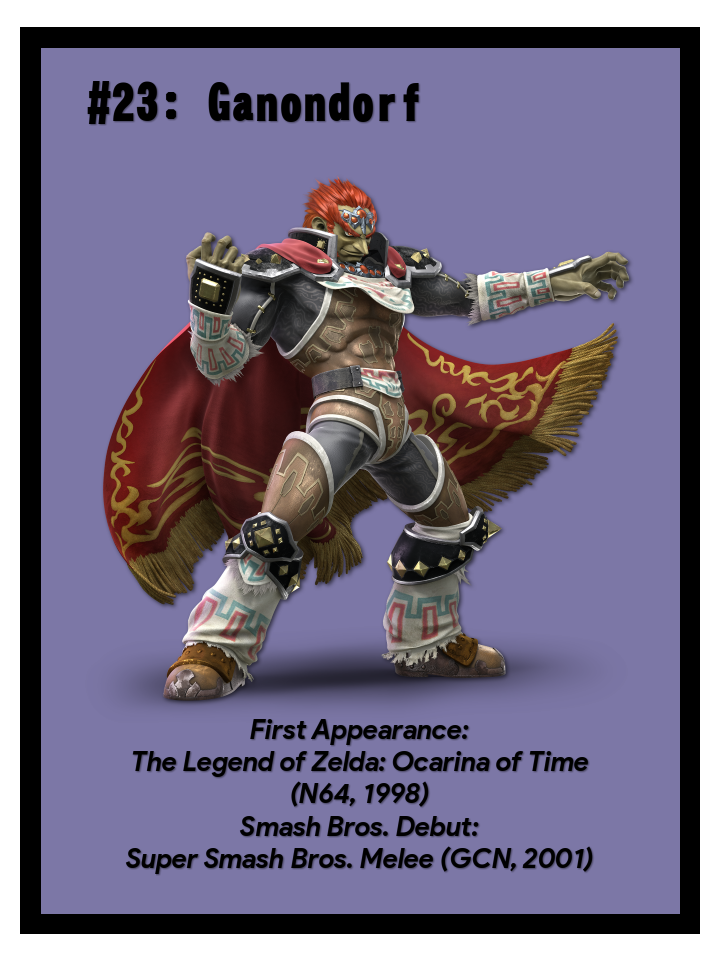 Super Smash Bros Fighter Card 23 Ganondorf By Marioexpert
