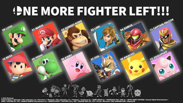 ONE MORE FIGHTER LEFT!!! (The Original 12)