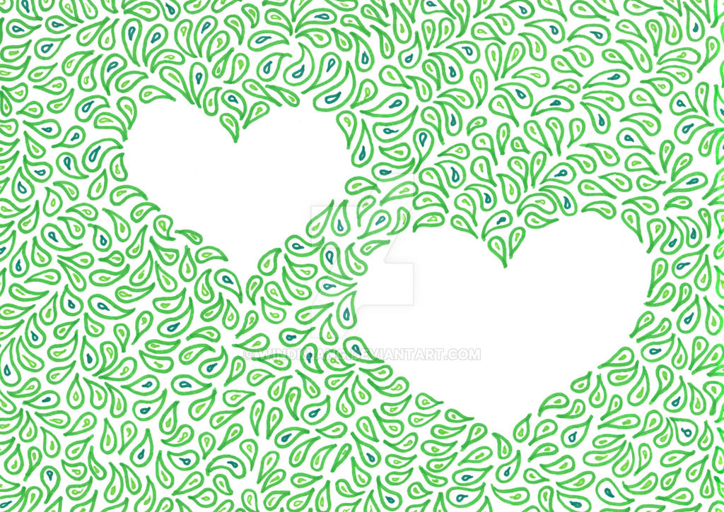 Green hearts by Windklang