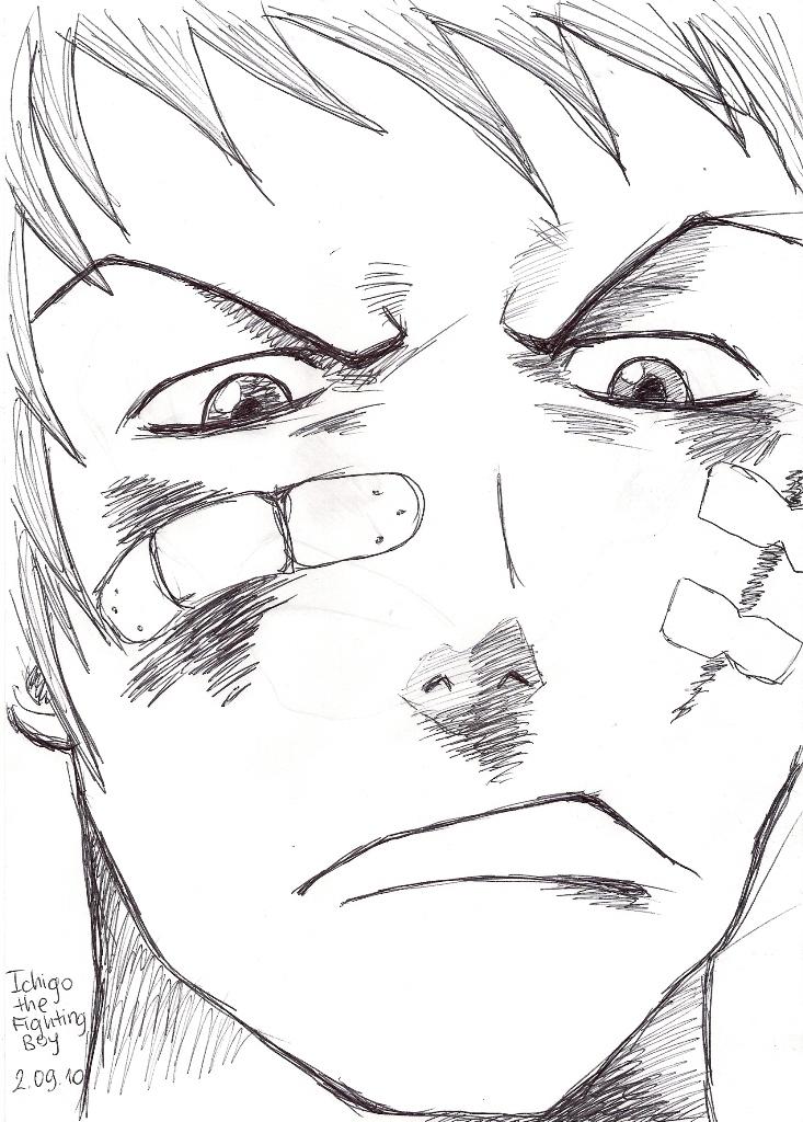 Ichigo - after the fight by CherryInTheSun